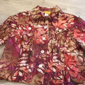 Ruby Rd. …Button front blouse…3/4 /Long Sleeve